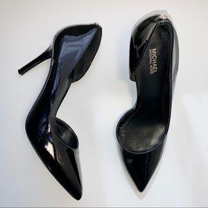 10 MICHEAL KORS Black Patent Leather Pump Heel